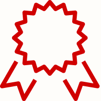 Outline of award badge