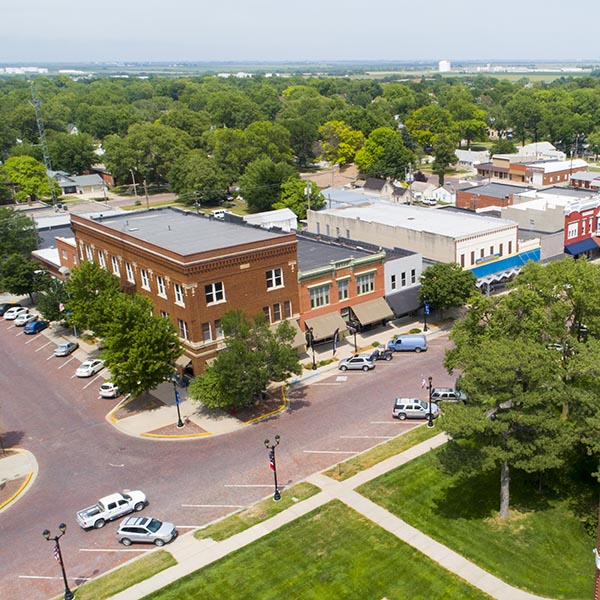 aerial view of geneva nebraska