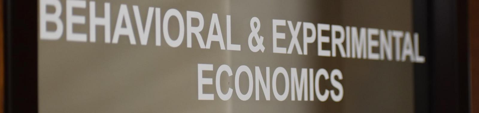 Photo of text: Behavioral & Experimental Economics