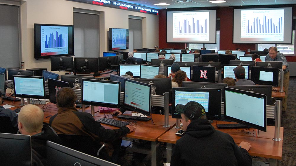 Photo of commodity trading room